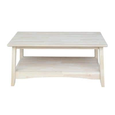 Bombay 39 in. Unfinished Medium Rectangle Wood Coffee Table