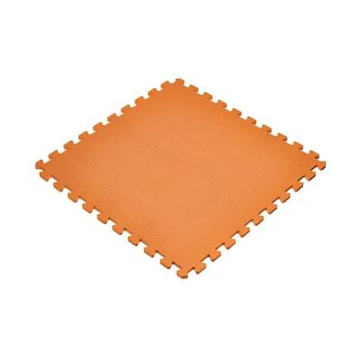 Orange 24 in. x 24 in. EVA Foam Non-Toxic Solid Color Interlocking Tiles (72 sq. ft. - 18 tiles)