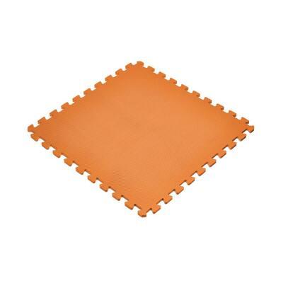 Orange 24 in. x 24 in. Non-Toxic EVA Foam Solid Color Interlocking Tiles