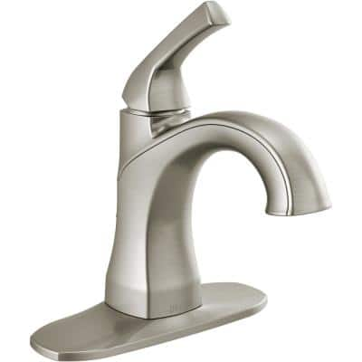 Portwood Single Hole Single-Handle Bathroom Faucet in SpotShield Brushed Nickel