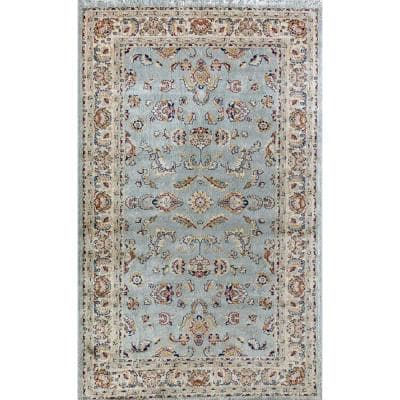 Bardot Classic Blue Transitional Traditional 9 ft. x 12 ft. Area Rug