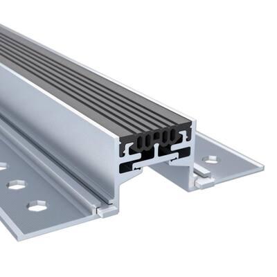 Novojunta Pro Alum Black 1-3/16 in. x 1-3/4 in. x 98-1/2 in. Aluminum Expansion Joint