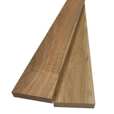 1 in. x 4 in. x 8 ft. Cherry S4S Board (2-Pack)