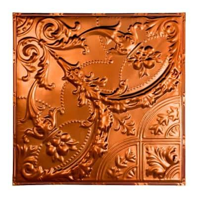 Saginaw 2 ft. x 2 ft. Nail Up Metal Ceiling Tile in Copper (Case of 5)