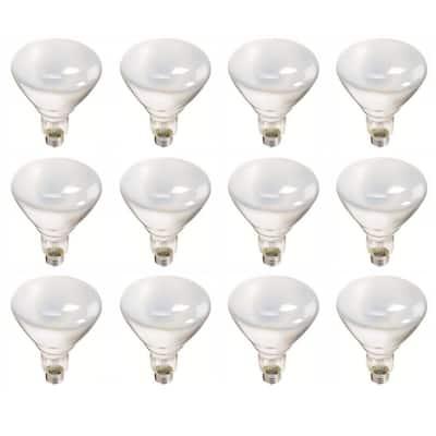65-Watt BR40 Incandescent Flood Light Bulb Soft White (2700K) (12-Pack)