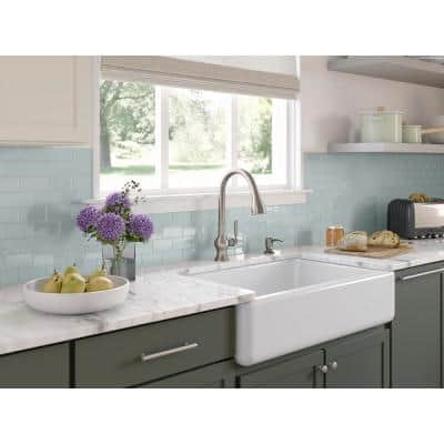 Capilano Single-Handle Pull-Down Sprayer Kitchen Faucet with Boost Technology in Vibrant Stainless
