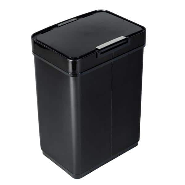 Honey Can Do 13 Gal Stainless Steel Touchless Sensor Trash Can Trs 08415 The Home Depot