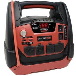 JSL-1250 Power Station with Jump Starter and 159 PSIAir Compressor, two 120V power inventor outlets