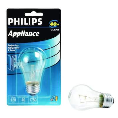 40-Watt A15 Incandescent Clear Appliance Light Bulb