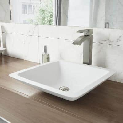 Duris Single Hole Single-Handle Vessel Bathroom Faucet in Brushed Nickel
