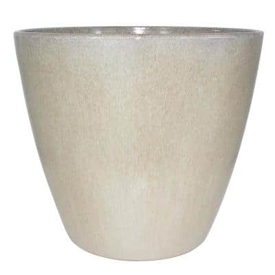 16 in. Oatmeal Plastic Kurv Resin Planter