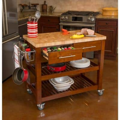 Pro Chef Espresso Kitchen Cart with Chop and Drop System