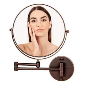 Small Round Antique Bronze Modern Mirror (13.3 in. H x 1.6 in. W)