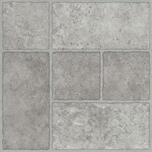 Bodden Bay 12 in. x 12 in. Grey Peel and Stick Vinyl Tile (30 sq. ft. / case)
