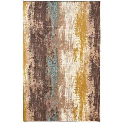 Barton Brown 5 ft. x 8 ft. Abstract Area Rug