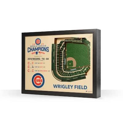 MLB Chicago Cubs 25 Layer Stadiumviews 3D Wooden Wall Art