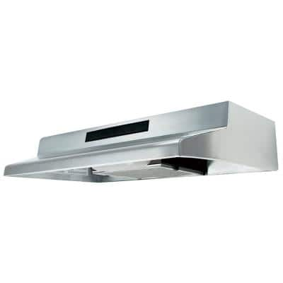 ENERGY STAR Certified 36 in. Under Cabinet Convertible Range Hood with Light in Stainless Steel