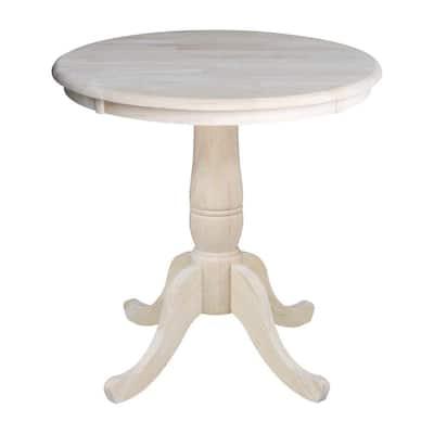 Unfinished Pedestal Dining Table