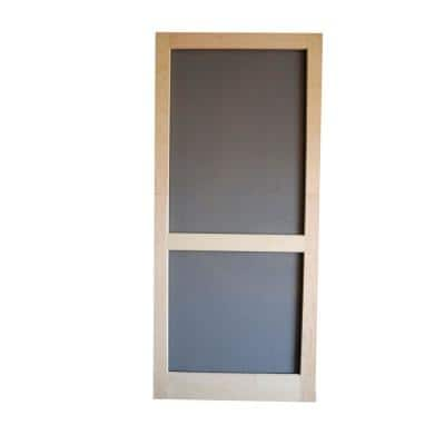 30 in. x 80 in. Woodcraft Wood Unfinished Reversible Hinged Screen Door