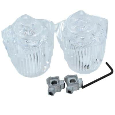 Tub and Shower Handle Pair Universal Fit in Clear Acrylic