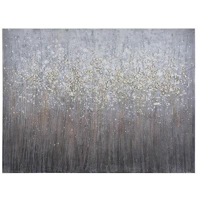 36 in. H x 48 in. W Sprinkle of White Artwork in Canvas