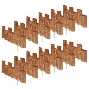 18 in. L x 1.5 in. W Half Log Edging (12-Pack)
