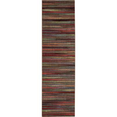 Expressions Multicolor 2 ft. x 8 ft. Geometric Contemporary Runner Rug