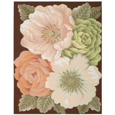 Fantasy Pink Multicolor 8 ft. x 11 ft. Geometric Contemporary Area Rug