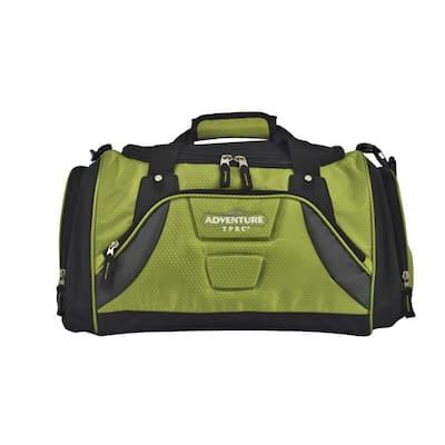 Adventure 20 in. Green Wet Pocket Sport Duffel Bag