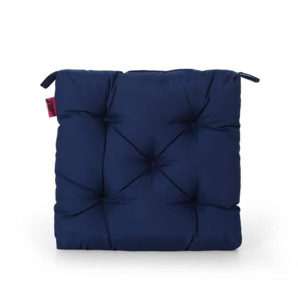 Noble House Blue Lagoon 19 In X 3 15 In Outdoor Dining Chair Cushion In Navy 68641 The Home Depot