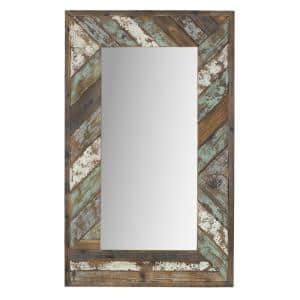 Large Rectangle Multi-Colored Hooks Mirror (43.5 in. H x 26.5 in. W)
