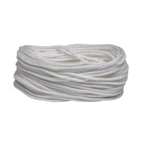 3/16 in. x 50 ft. White Polypropylene Diamond Braid Rope