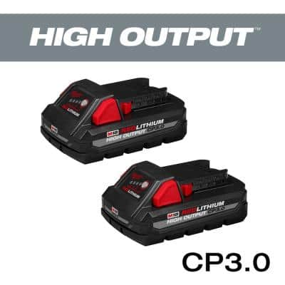 M18 18-Volt Lithium-Ion HIGH OUTPUT CP 3.0Ah Battery Pack (2-Pack)