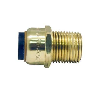 1/2 in. Brass Push-to-Connect x Male Pipe Thread Adapter