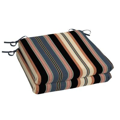 Bradley Stripe Square Outdoor Seat Cushion (2-Pack)