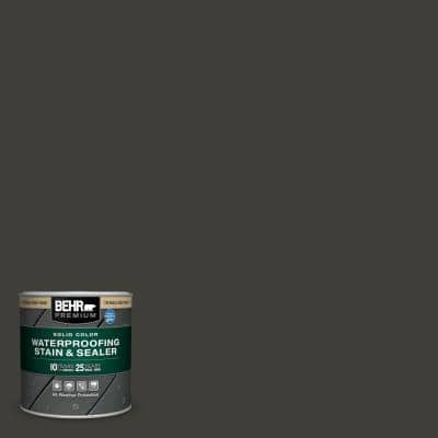 8 oz. #SC-102 Slate Solid Color Waterproofing Exterior Wood Stain and Sealer Sample