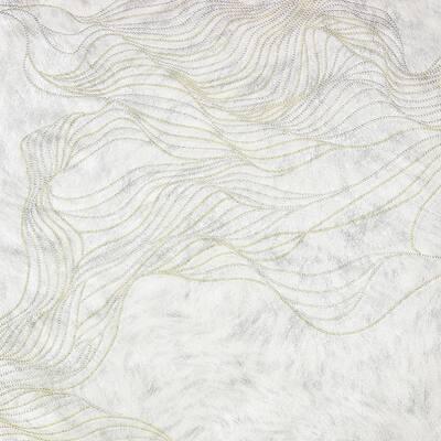 Abruzzo Off-White Wolf Wave Off-White Wallpaper Sample