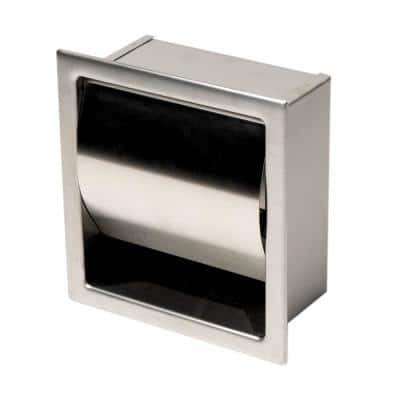 Toilet Paper Holder in Brushed Stainless Steel