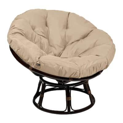Montlake 52 in. Dia Antique Beige Water-Resistant Outdoor Lounge Papasan Cushion