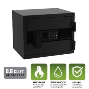 0.8 cu. ft. Personal Fire and Waterproof Safe with Electronic Lock, Black