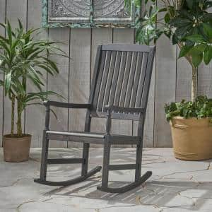 Arcadia Dark Grey Acacia Wood Outdoor Rocking Chair