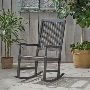 Arcadia Dark Grey Acacia Wood Outdoor Rocking Chair