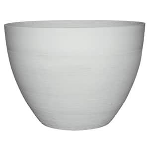 Decatur 22 in. Blanc de Blanc Resin Planter Pot