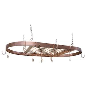 Copper Pot Rack Oval