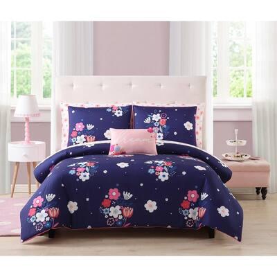 kute kids 3-Piece Melissa Floral Full/Queen Comforter Set