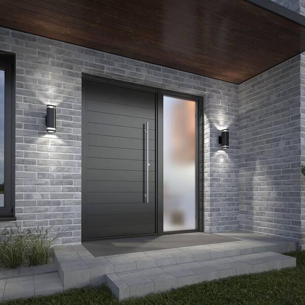 Artika Um Mettle Black Integrated, Outdoor Cylinder Light