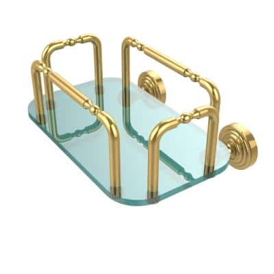 Waverly Place Wall Mounted Guest Towel Holder in Polished Brass