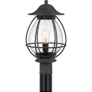 Boston 1-Light Mottled Black Outdoor Post Lantern