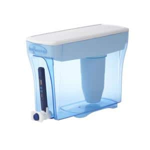 ZeroWater 30-Cup Ready-Pour- Water Pitcher Filter in Blue with Filtration System