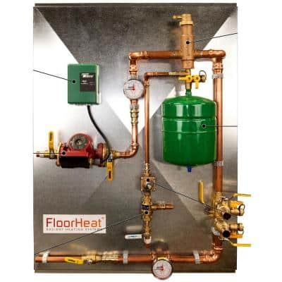 1-Zone Preassembled Radiant Heat Distribution/Control Panel System